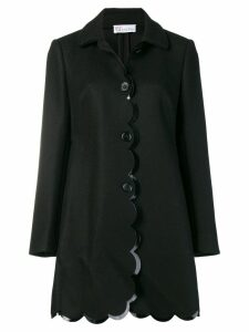 Red Valentino scalloped coat - Black