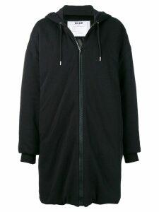 MSGM oversized hoodie coat - Black