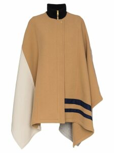 Chloé colour block cape coat - Brown