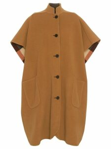 Burberry Reversible Check Oversized Poncho - Brown