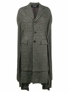 Junya Watanabe checked cape coat - Green