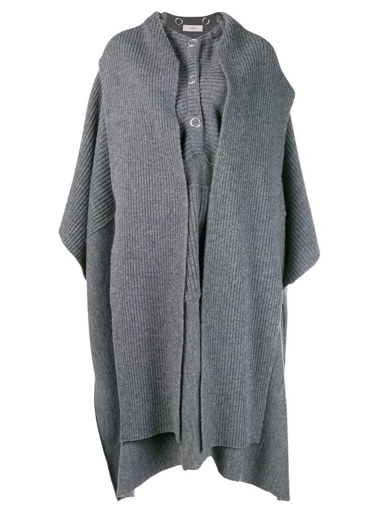 Pringle Of Scotland knitted cape - Grey