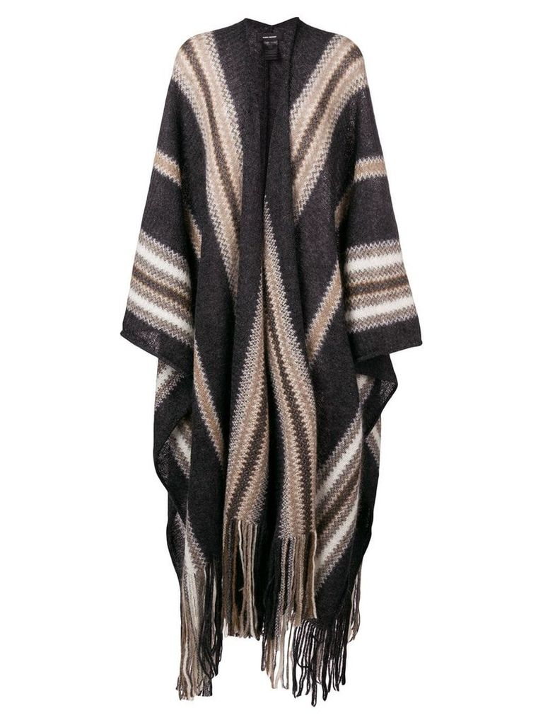 Isabel Marant Kalibo knit cape - Grey