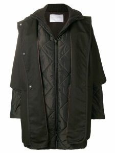 Fabiana Filippi padded sleeved coat - Brown