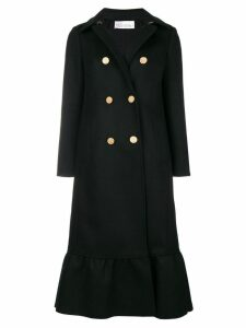Red Valentino double-breasted flared coat - Black