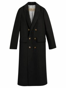 Burberry Linen Silk Tailored Coat - Black