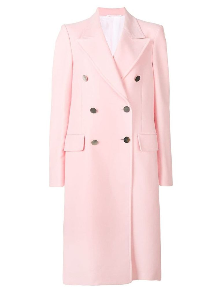 Calvin Klein 205W39nyc double-breasted fitted coat - Pink