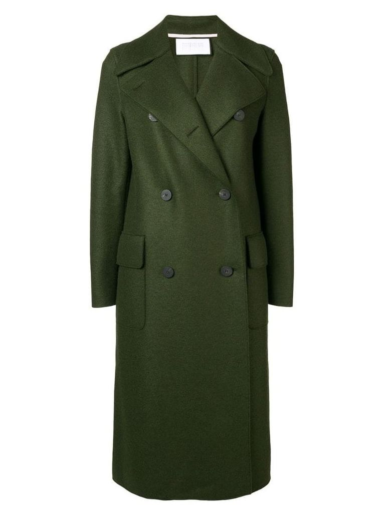 Harris Wharf London double breasted coat - Green