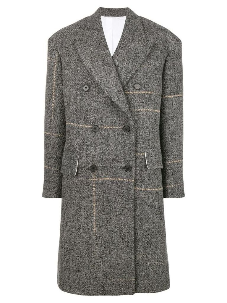 Calvin Klein 205W39nyc double-breasted fitted coat - Grey