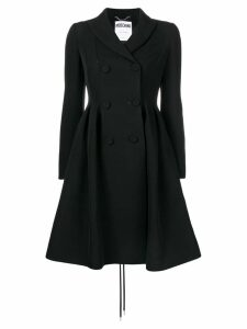 Moschino double-breasted flared coat - Black