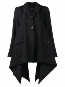 Barbara Bologna flared long-sleeved coat - Grey
