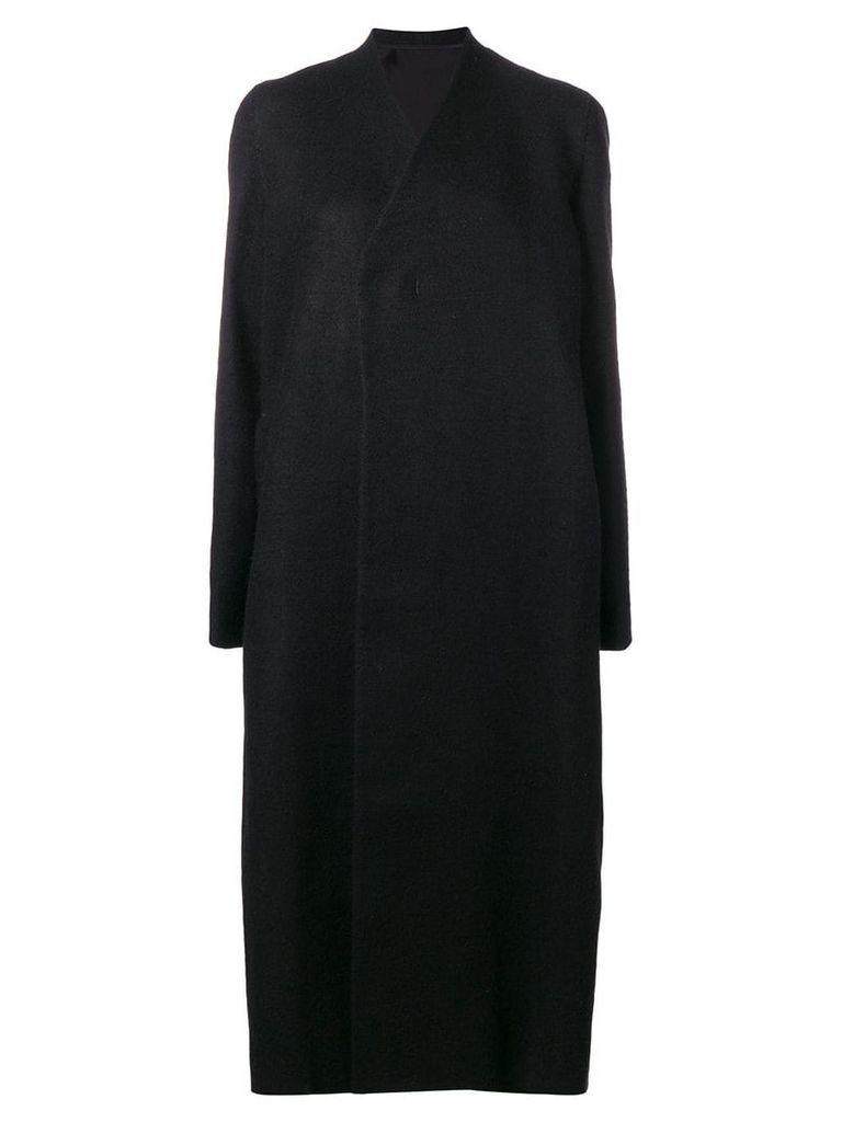 Rick Owens straight fit coat - Black