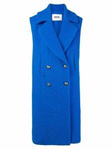 MSGM double-breasted sleeveless coat - Blue