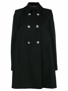 Alexander McQueen loose flared coat - Black