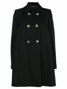 Alexander McQueen loose flared coat - Black