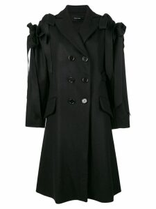 Simone Rocha ruffle bow coat - Black