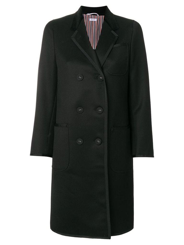 Thom Browne double-breasted midi coat - Black