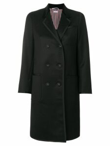 Thom Browne double-breasted midi coat - Black