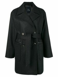 Fay double breasted coat - Black
