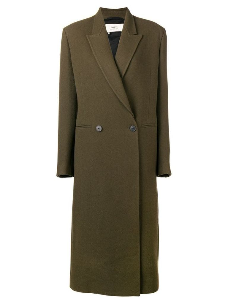 Ports 1961 double breasted coat - Green