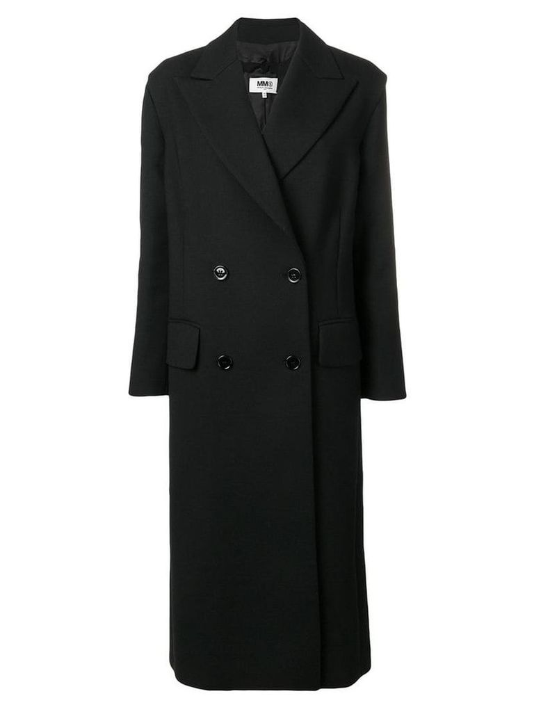 Mm6 Maison Margiela double breasted coat - Black