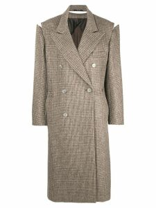 Maison Margiela detached sleeve coat - Brown