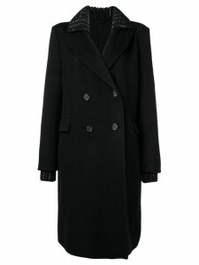 Ermanno Scervino knit collar coat - Black