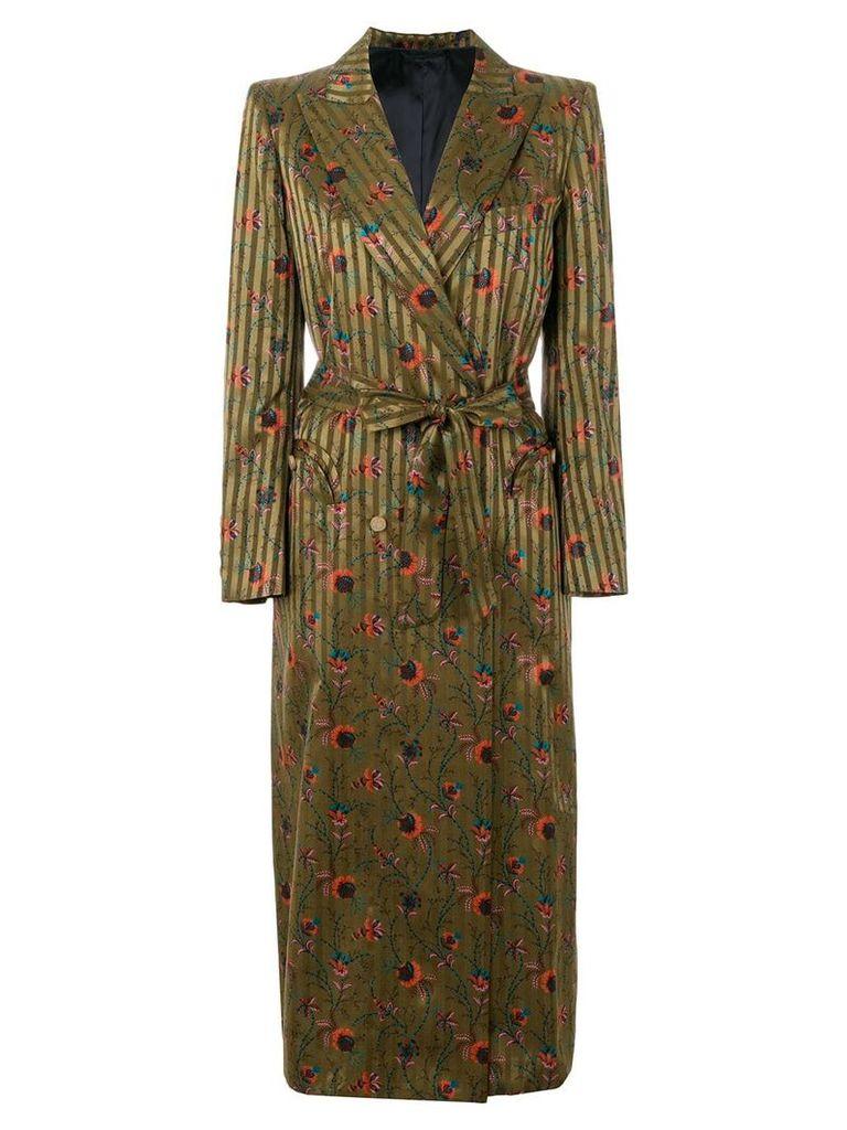 Blazé Milano mixed-print double-breasted coat - Green