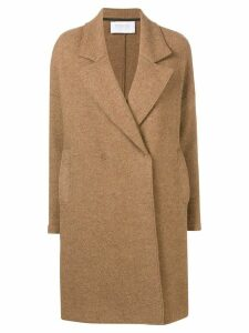 Harris Wharf London boxy double-breasted coat - Brown