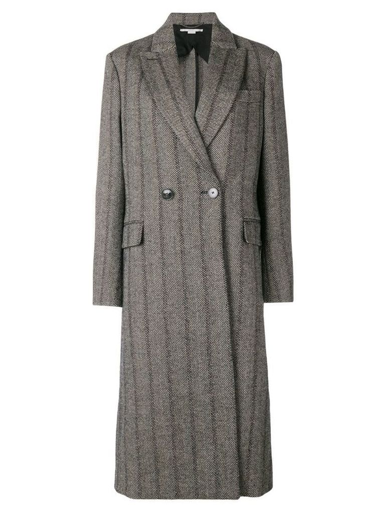Stella McCartney striped double breasted coat - Grey