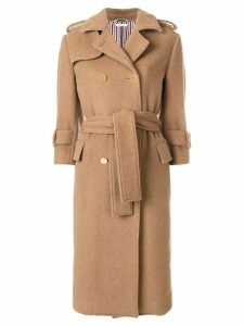 Thom Browne Camel Hair Double-breasted Trench Coat - Neutrals