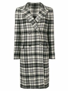 Ermanno Scervino checked midi coat - Grey