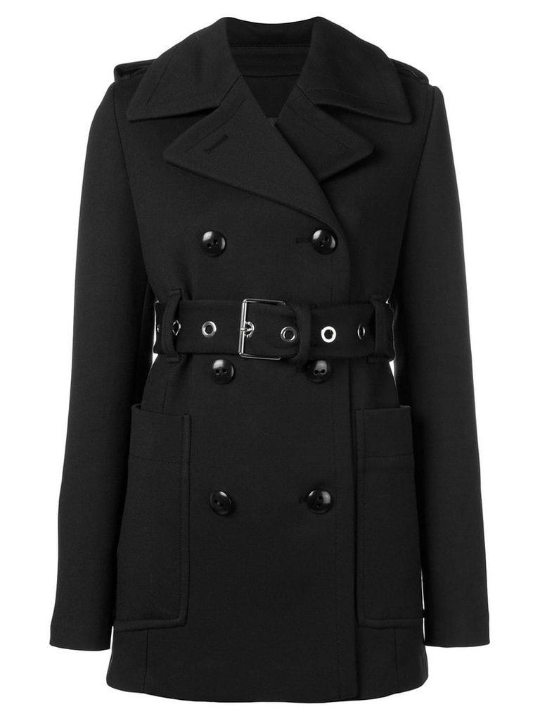 Proenza Schouler Double Breasted Belted Coat - Black