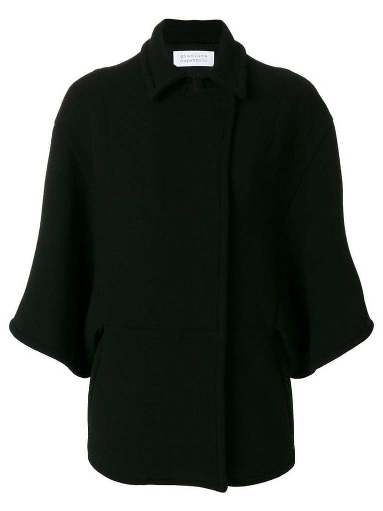 Gianluca Capannolo flared sleeve coat - Black