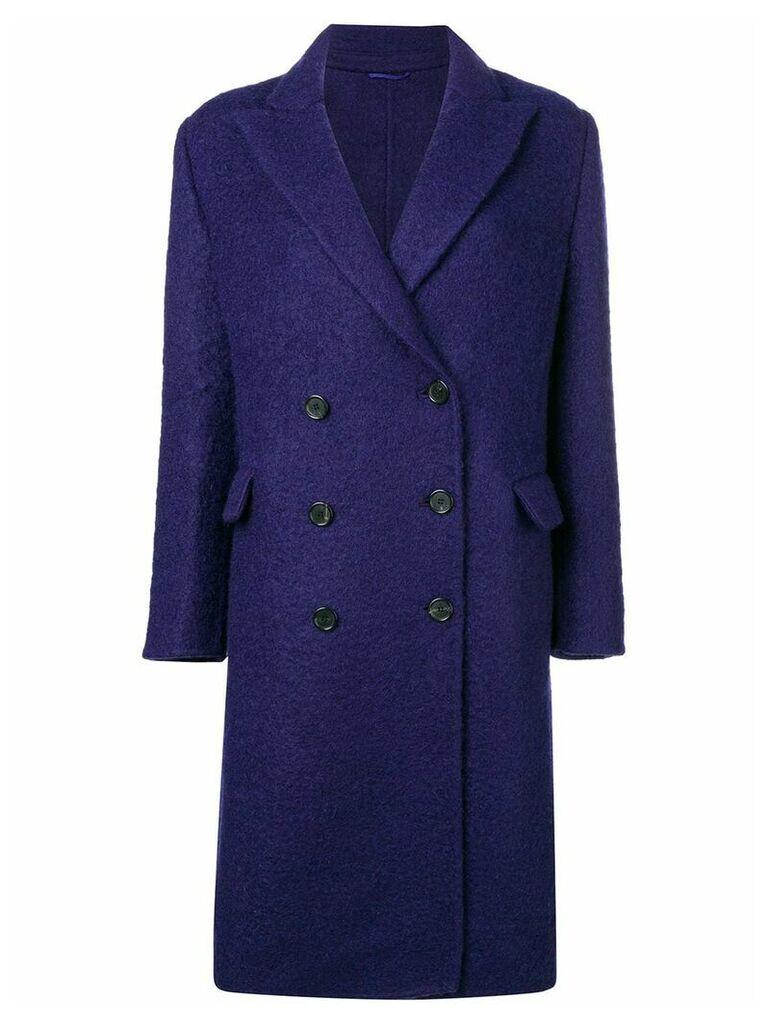 Ermanno Scervino double breasted coat - Purple