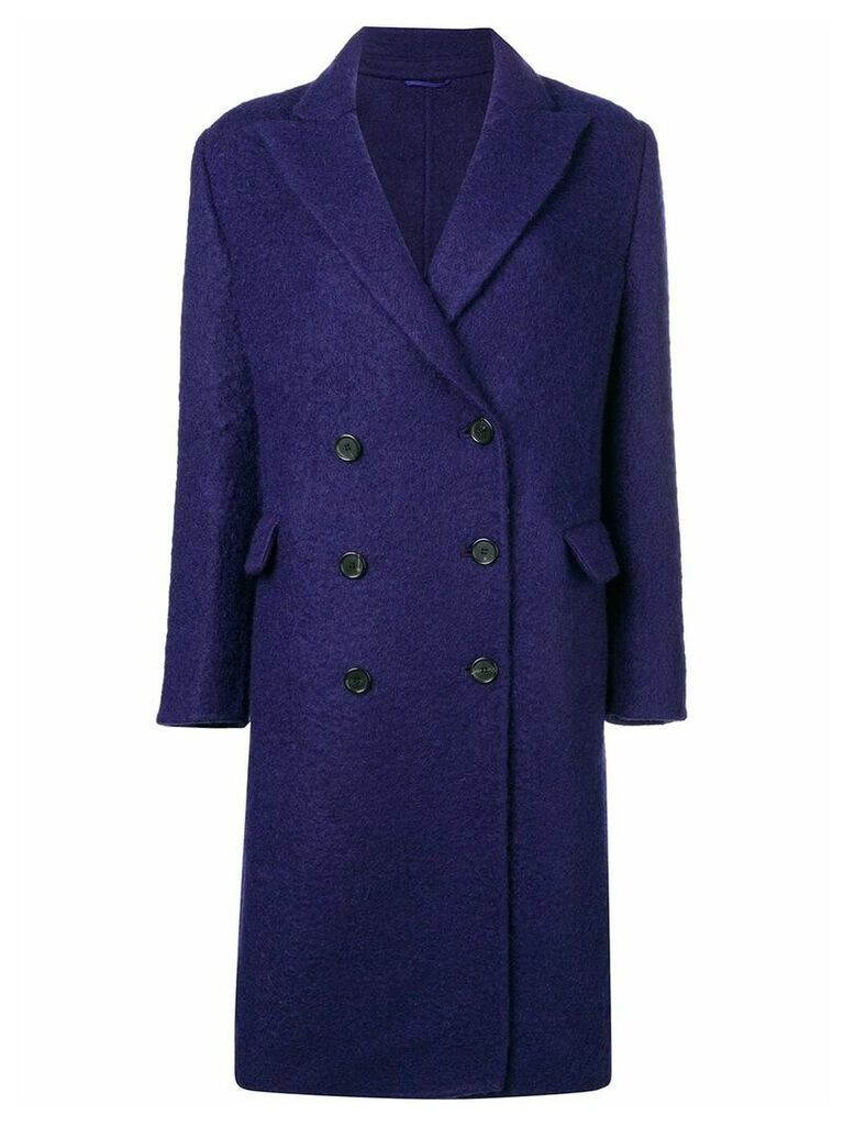 Ermanno Scervino double breasted coat - Purple