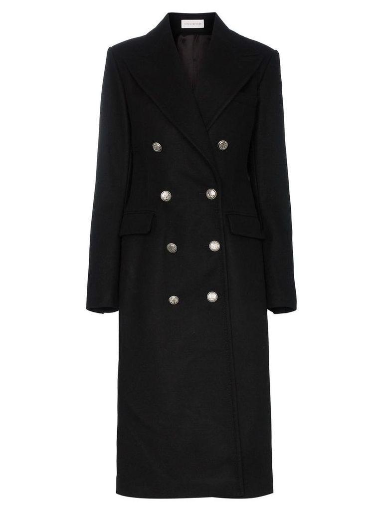 Faith Connexion double breasted knee length coat - Black