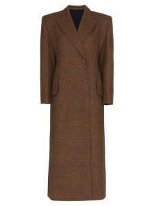 Wright Le Chapelain double-breasted wool coat - Brown
