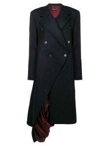 Y/Project exposed lining asymmetric coat - Blue
