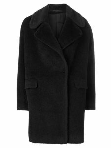 Tagliatore double-breasted fitted coat - Black