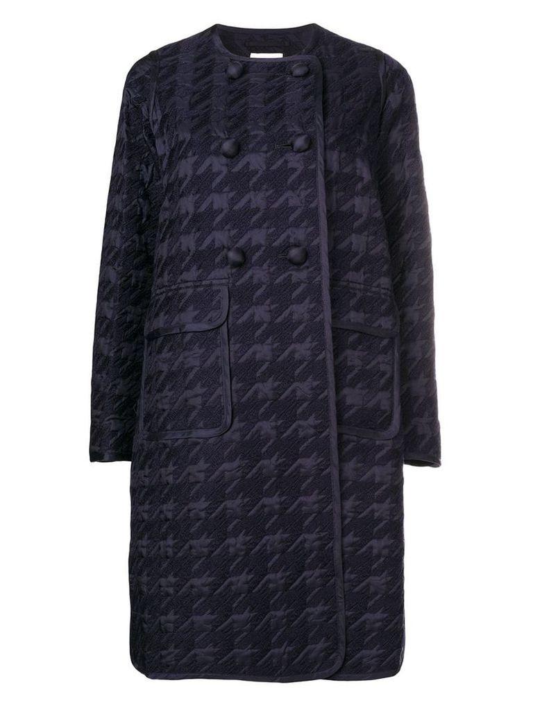 Comme Des Garçons Noir Kei Ninomiya houndstooth double-breasted coat -