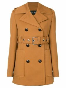 Proenza Schouler Double Breasted Belted Coat - Brown