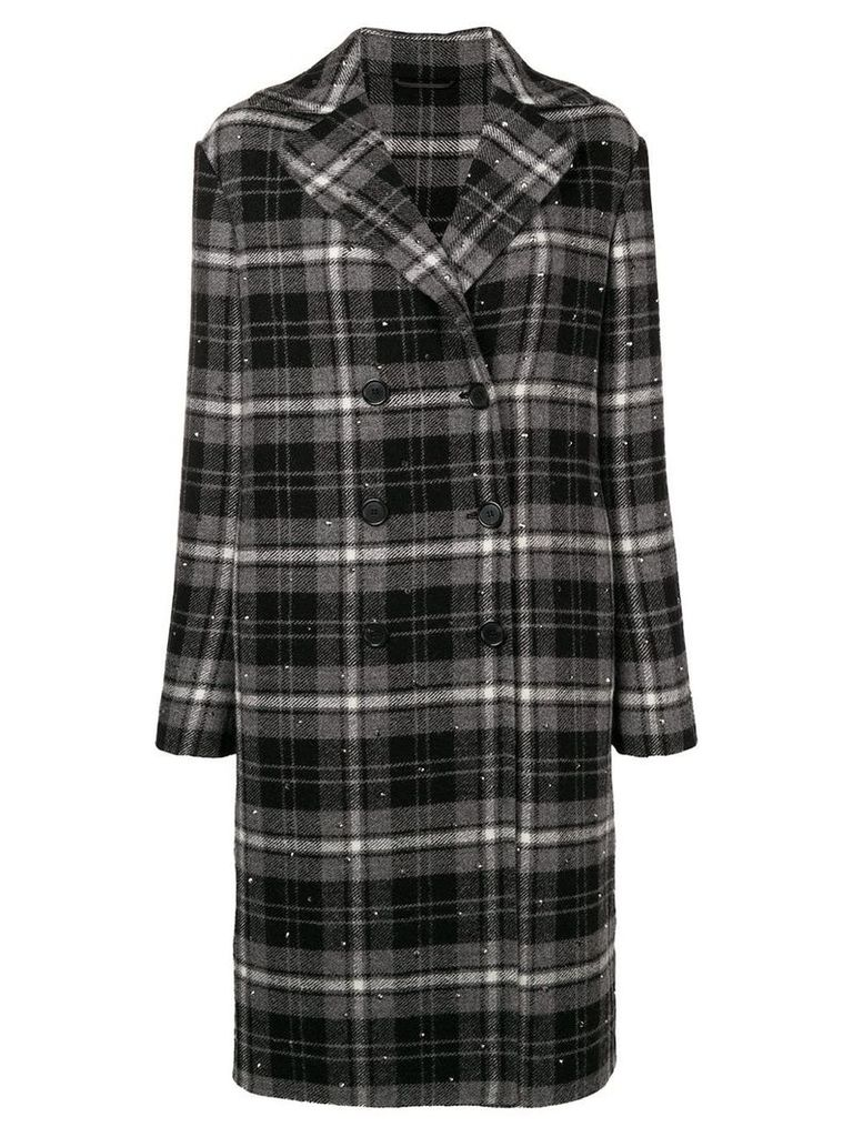 Ermanno Scervino checked double breasted coat - Grey