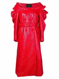 Simone Rocha varnished double-breasted coat - Red