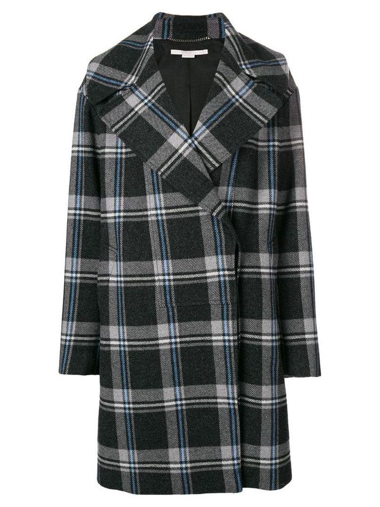 Stella McCartney plaid cocoon coat - Grey
