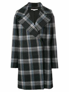 Stella McCartney plaid cocoon coat - Grey