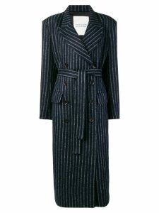 Walk Of Shame double-breasted striped coat - Blue