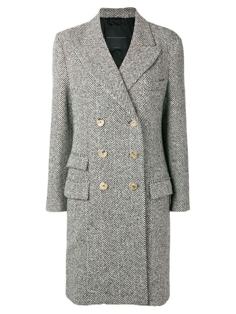 Ermanno Scervino tweed coat - Black