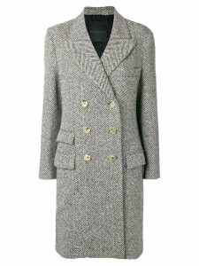 Ermanno Scervino tweed coat - Black