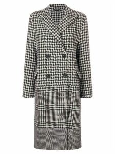 Ermanno Scervino double-breasted checked coat - Black